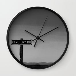 No One Cried Wall Clock