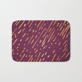 Fuchsia Golden Stripes Bath Mat