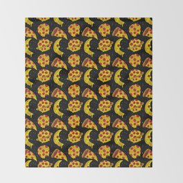 pizza space Throw Blanket