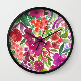 Tropical Flora Wall Clock
