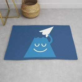 A Friendly Mountain Greeting Rug