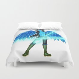 Luc Ready for Battle (No Background) Duvet Cover