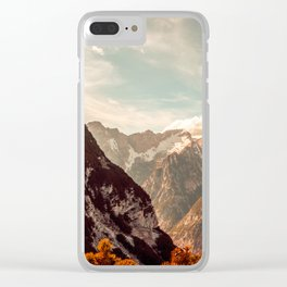 Spring Mountains Clear iPhone Case