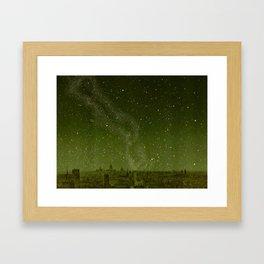 The sky and horizon above Paris Illustration from Le ciel; notions élémentaires d'astronomie physi Framed Art Print