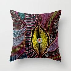 Modern Aboriginal 5 Throw Pillow