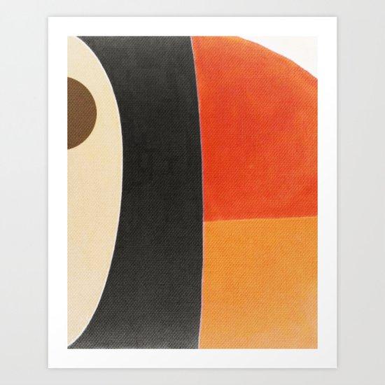 Toucan Macro Art Print