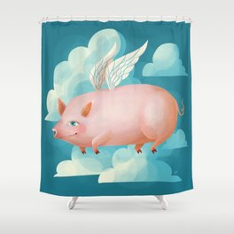 2019: Year of the Pig Shower Curtain