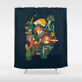 Crazy dream Shower Curtain