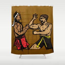 you fought with inspiration Shower Curtain