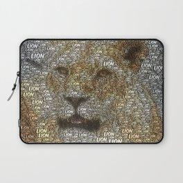 WordArt Lion Laptop Sleeve