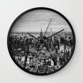 where dreams are made of (black and white) Wall Clock