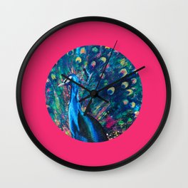 Psychedelic Peacock Wall Clock