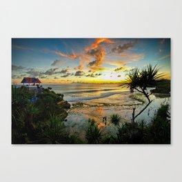Sunset at Kukup Beach Canvas Print