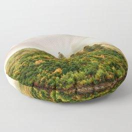 Autumn valley in the cloud Floor Pillow