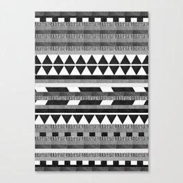 DG Aztec No.1 Monotone Canvas Print