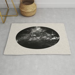 God's Window - Black And White Space Painting Rug