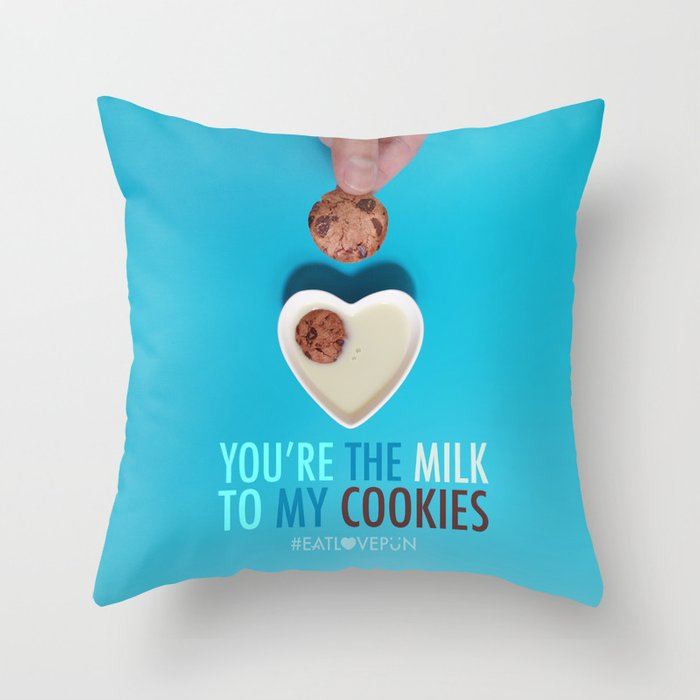 You're the Milk to My Cookies Throw Pillow