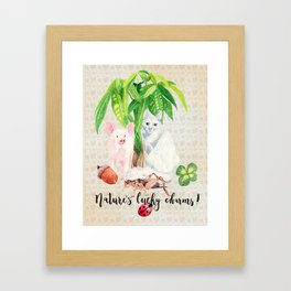 Nature's Lucky Charms Framed Art Print