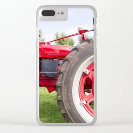 Vintage Tractor Clear iPhone Case