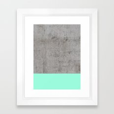 Sea on Concrete Framed Art Print