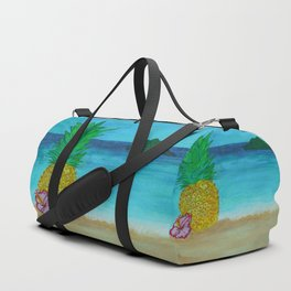 Pineapple On The Beach - Vibrant Duffle Bag