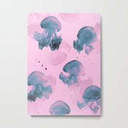 Candy Jellyfishes Metal Print