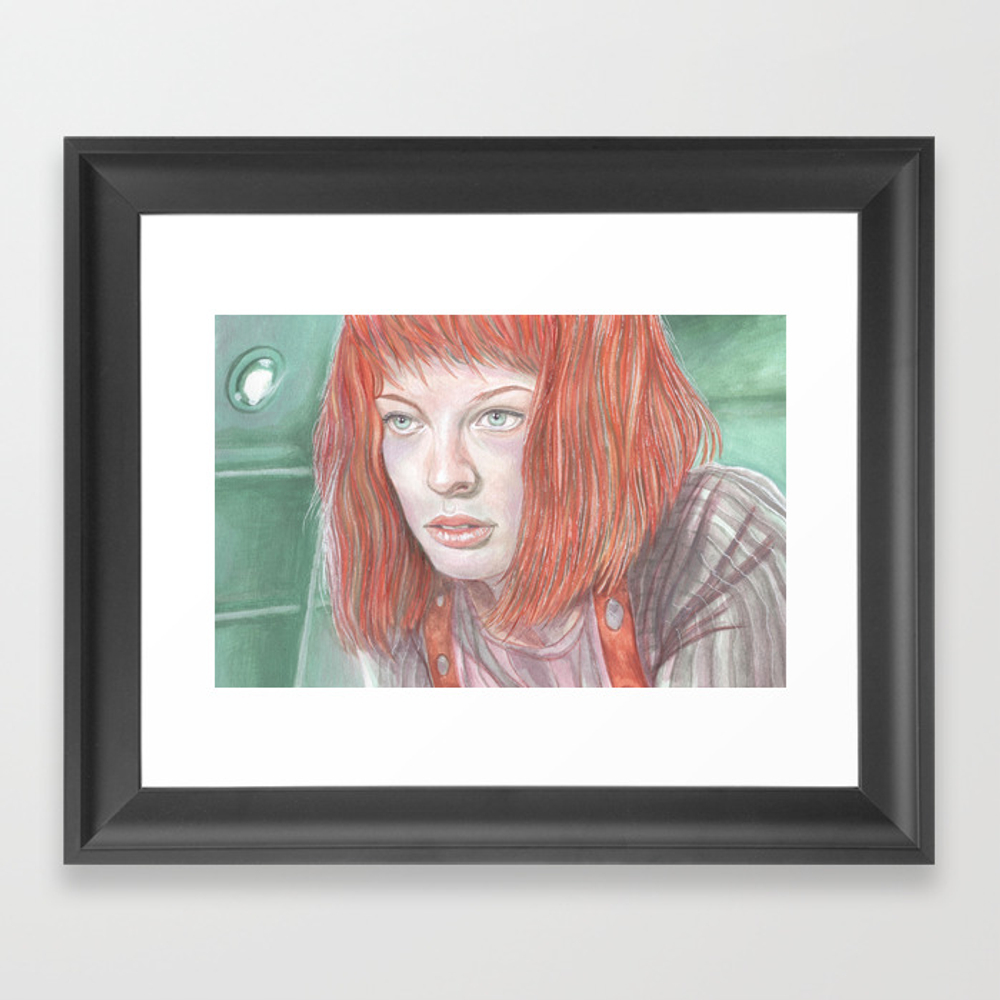 Leeloo - The Fifth Element Framed Print by Breakthemouldb3 FRM8817740