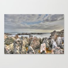 Sunset at shore Canvas Print