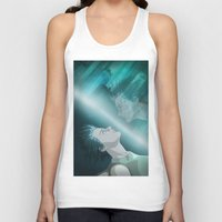 ghost in the shell Tank Tops featuring Ghost in the Shell, fan poster by XDimov