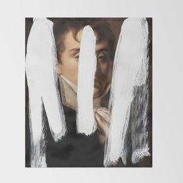 Brutalized Portrait of a Gentleman 2 Throw Blanket