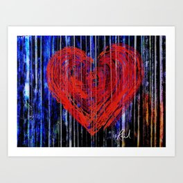 Love against the wall Art Print