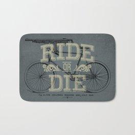 Ride Or Die Bicycle Print Bath Mat