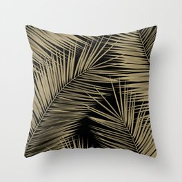 Palm Leaves - Gold Cali Vibes #7 #tropical #decor #art #society6 Throw Pillow
