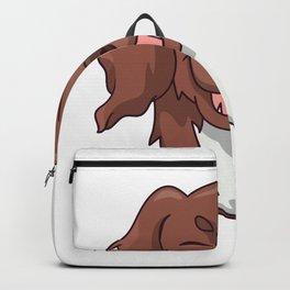 Munsterlander dog happy Backpack