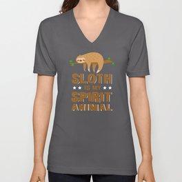 Sloth Is My Spirit Animal Sloths Unisex V-Neck