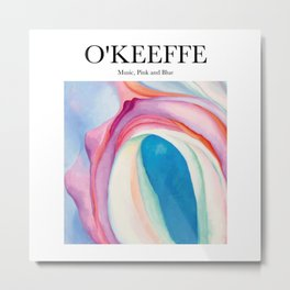 O'Keeffe - Music, Pink and Blue Metal Print