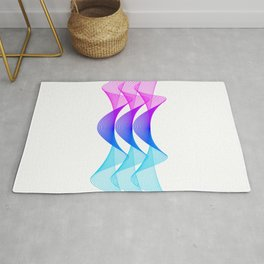 Gradient Lines Abstract Rug