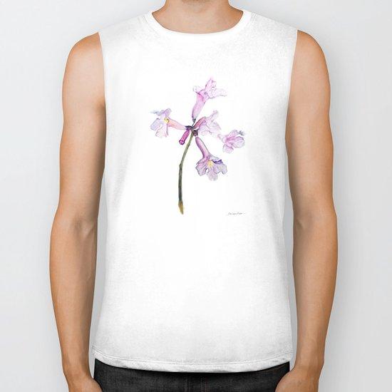 Flowers of the tree *Handroanthus sp* Biker Tank