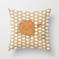 cookie Throw Pillows featuring Cookie by EnelBosqueEncantado