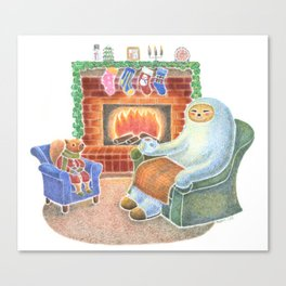 A Cozy Winter Night Canvas Print