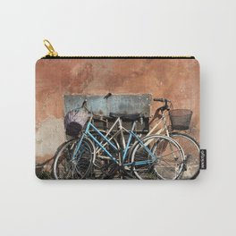 Two Vintage Bicycles Against a Wall, Trastevere, Rome, Italy Carry-All Pouch
