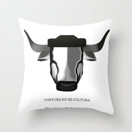 Tortura no es cultura Throw Pillow