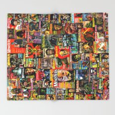 Monsters  |  Collage Throw Blanket