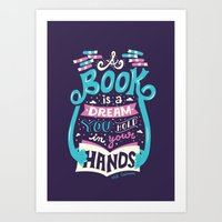 risa rodil Art Prints featuring Book is a dream by Risa Rodil