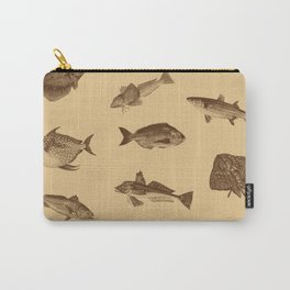 Vintage style fish of the ocean Carry-All Pouch