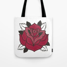 The Old School Rose Tote Bag