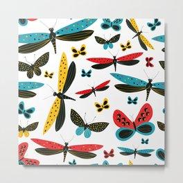 Magic Dancing Butterflies Metal Print
