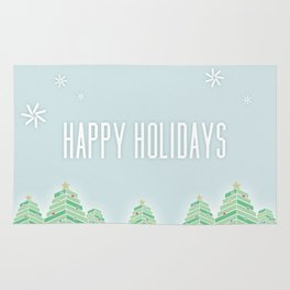 Happy Holiday Trees Rug