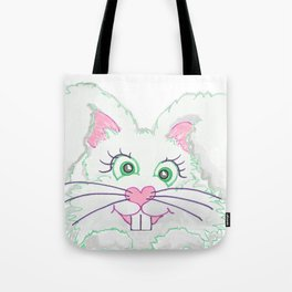 Funny Bunny Bed and Bath Tote Bag