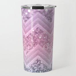 Unicorn Glitter Chevron #1 #pastel #shiny #decor #art #society6 Travel Mug